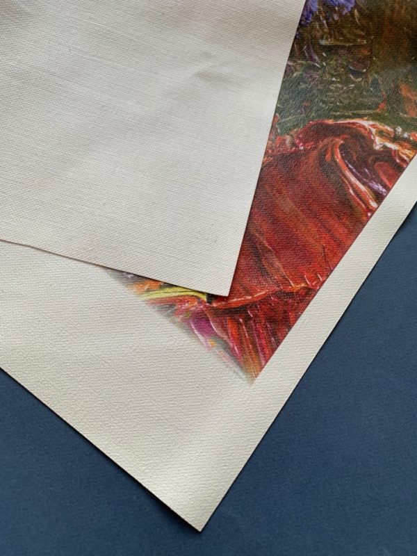 Canvas cotton white for printing