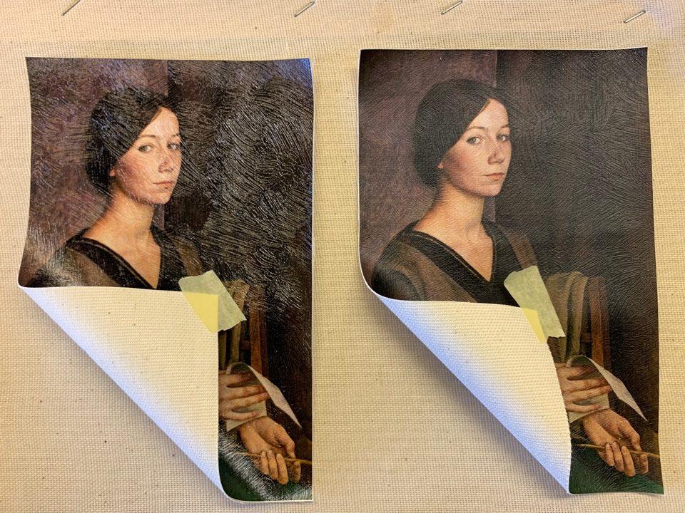 Brush stroke canvas 400 gr/m